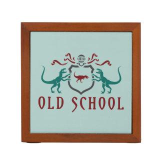 Old School Heraldic Dinosaur Desk Organiser