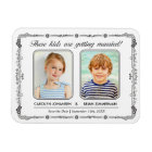 Old School Photo Save the Date Magnet