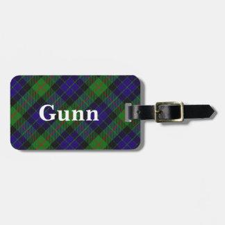 Old Scotsman Clan Gunn Tartan Luggage Tag