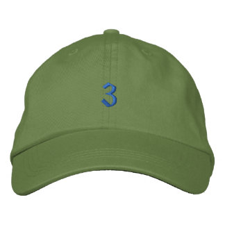 Old Style Number 3 Embroidered Hat