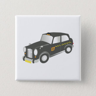 Old Taxi 15 Cm Square Badge