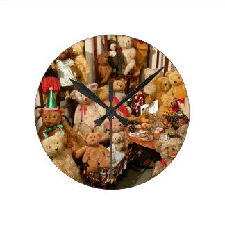 Old Teddy Bears Collection Wall Clocks