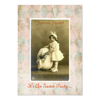 Old-time Easter Party invitation