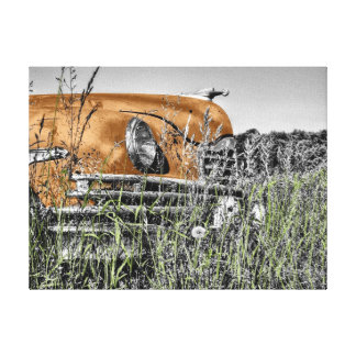 Old Timer 1950's Vintage American Car Gallery Wrap Canvas