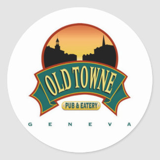 Old Towne Pub Round Sticker