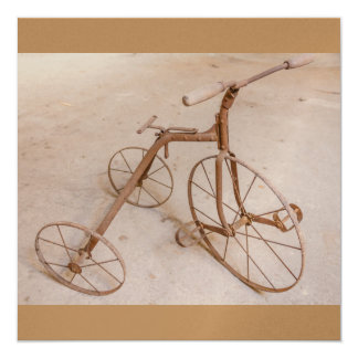 OLD TRICYCLE 1928 LUXE INVITATION CARD