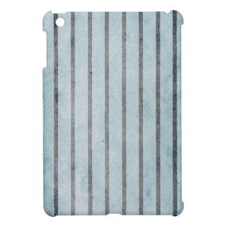 Old wallpaper, faux lines in blue and black cover for the iPad mini