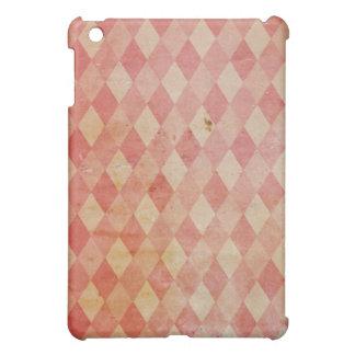 Old wallpaper red diamond pattern, retro design iPad mini cases