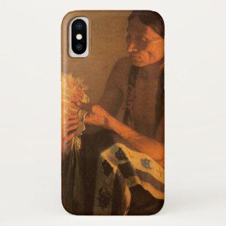 Old War Bonnet by Joseph Henry Sharp iPhone X Case