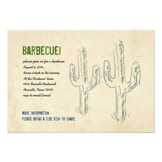 Old West Cactus Party Invitation