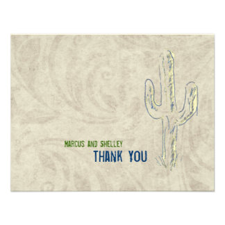 Old West Cactus Western Thank You Notes Invite