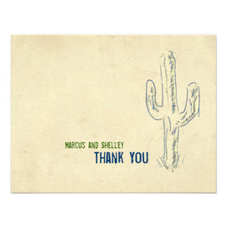 Old West Cactus Western Thank You Notes Personalized Invites