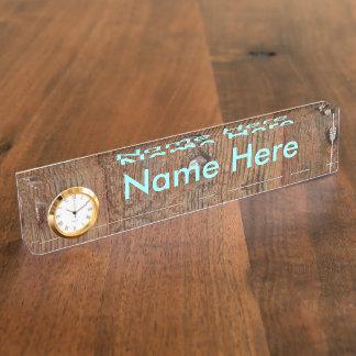 Old Wooden Door Name Plates