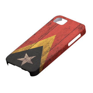 Old Wooden East Timor Flag iPhone 5 Case