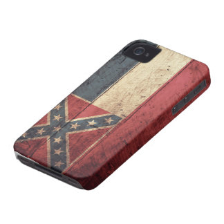 Old Wooden Mississippi Flag; Case-Mate iPhone 4 Cases