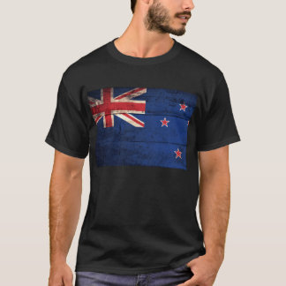 Old Wooden New Zealand Flag; T-Shirt