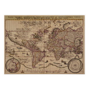 Cool World Map Posters Photo Prints Zazzle NZ - Cool map posters