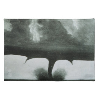 Oldest Known Photograph of a Tornado from 1884 Placemat