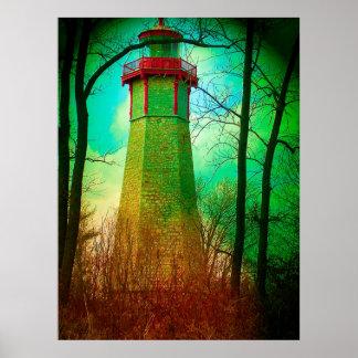 Oldest Light House Toronto Centre Island V16 Print