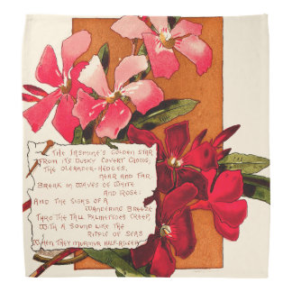 Oleander Flower Floral Islands Caribbean Poem Bandana