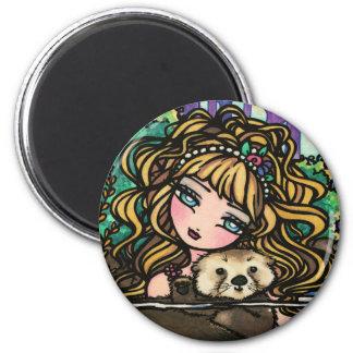 """Oliana's Otter"" Fantasy Mermaid Sea Otter Fairy Magnet"