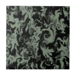 Olive Green & Black mixed color tile