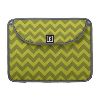 Olive Green Chevron Stripes Sleeve For MacBook Pro
