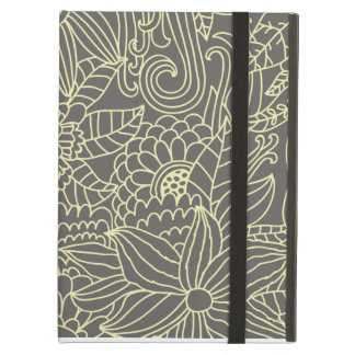 Olive Green Floral Powis iCase iPad Case