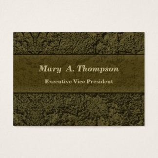 Olive Green Stucco Texture Business Card