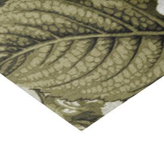 Olive Green Vintage Floral Toile No.1 Tissue Paper