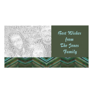 olive teal photo card template