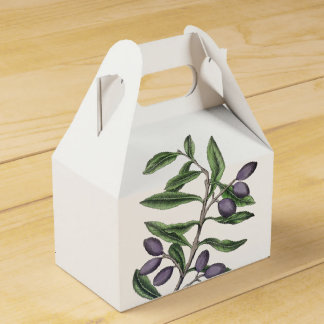 Olive Tree Branch | Green Purple Favour Box