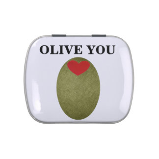 Olive You Candy Tin