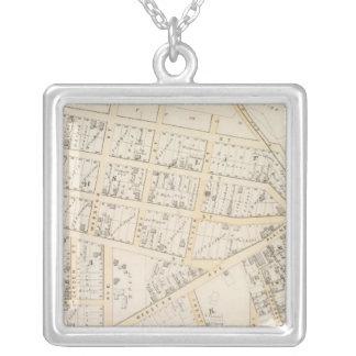 Olneyville Providence Rhode Island Square Pendant Necklace