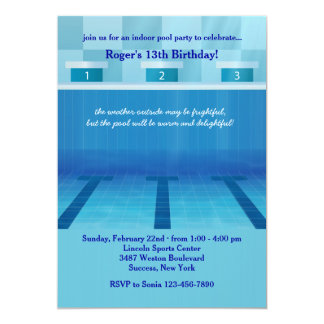 Olympic Pool Party Invitation