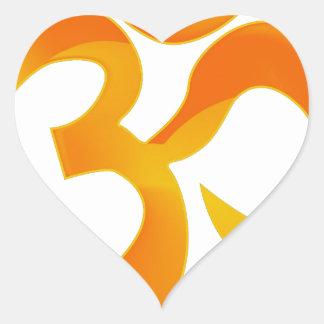 Om Heart Sticker