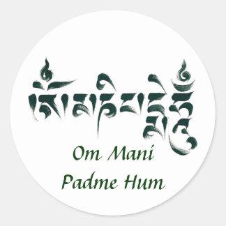 Om Mani Padme Hum III Classic Round Sticker