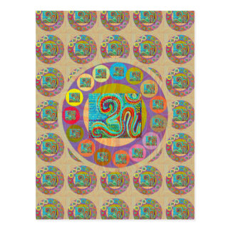 OM Mantra : Encouraging Display and Chanting Postcard