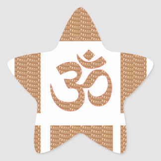 OM MANTRA OmMANTRA Chant Display Heal Peace Star Stickers