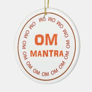 OM MANTRA SPIRITUAL HINDUISM SYMBOL YOGA MEDITATIO CHRISTMAS ORNAMENT