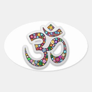 Om Ohm Aum Namaste Yoga Symbol Stickers