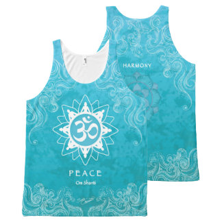 Om Shanti - Peace (XL) All-Over Print Singlet