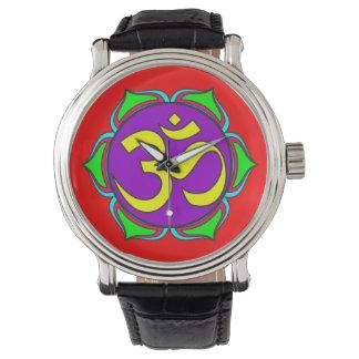 om symbol sacred Buddhism religion zen yoga flower Watch
