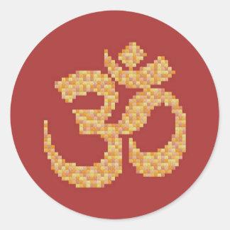 Om Symbol Round Sticker