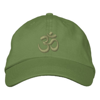OM Yoga Chakra Kaki Green or customize Embroidery Embroidered Hat
