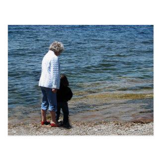 Oma and Devin Postcard