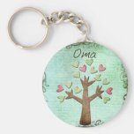 oma heart tree keychains