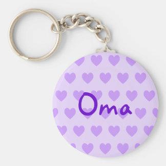 Oma in Purple Key Ring