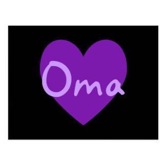 Oma in Purple Postcard