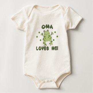 Oma Loves Me Frog Baby Bodysuit
